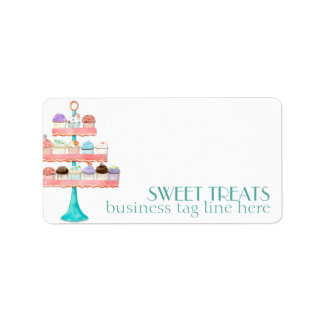 Cupcake Dessert Baking Bakery Business Package Address Label