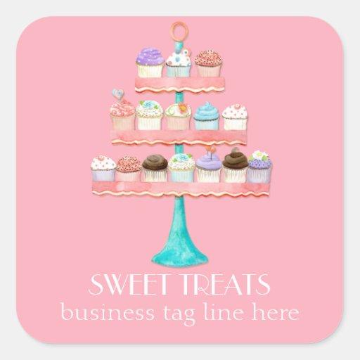 Cupcake Dessert Baking Bakery Business Package Stickers