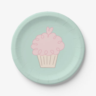 Cupcake doodle paper plate