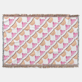 CUPCAKE DREAM CREAM FROSTING THROW BLANKET