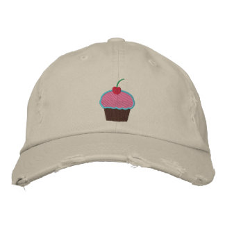 Cupcake Embroidered Hat