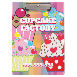 CUPCAKE FACTORY Menu Clipboard