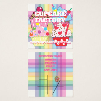 CUPCAKE FACTORY SQUARE BUSINESS CARD
