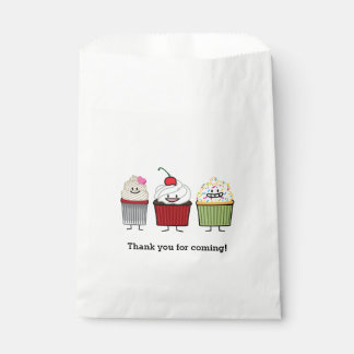 Cupcake family frosting sprinkles cherry cakes favour bag