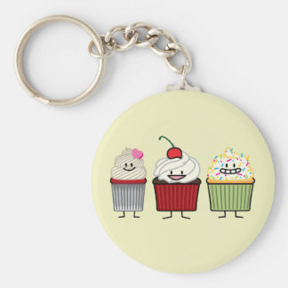Cupcake family frosting sprinkles cherry cakes hea key ring