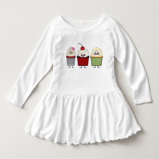 Cupcake family icing sprinkles cherry cakes heart dress