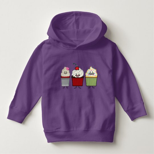 Cupcake family icing sprinkles cherry cakes heart hoodie