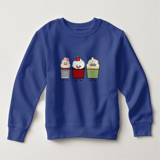 Cupcake family icing sprinkles cherry cakes heart sweatshirt
