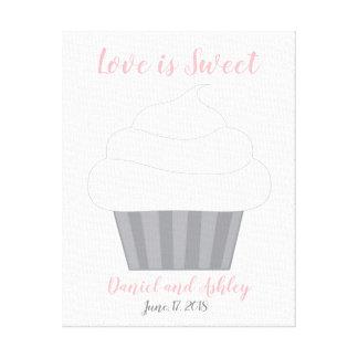 Cupcake Fingerprint Wedding Guest Book