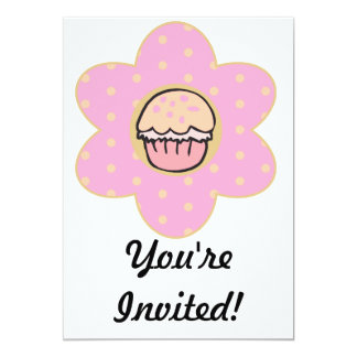 Cupcake Flower 13 Cm X 18 Cm Invitation Card