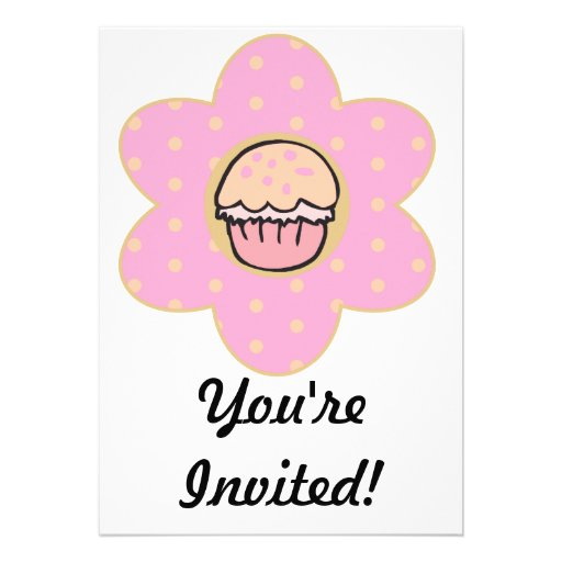 Cupcake Flower Invitation