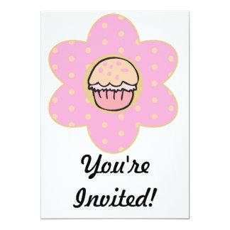 Cupcake Flower 13 Cm X 18 Cm Invitation Card
