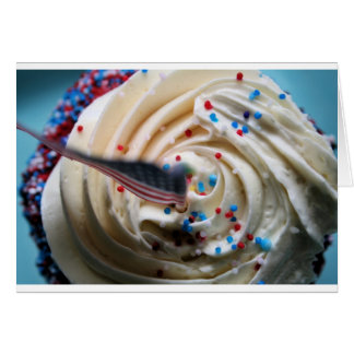 Cupcake frosting with an American flag Greeting Card