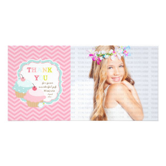 Cupcake Fun Colorful Thank you Photo Cards