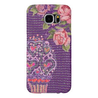 Cupcake Girly Pink Purple Phone Case, Samsung Galaxy S6 Cases