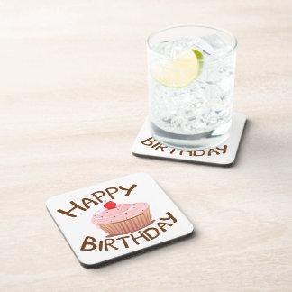 Cupcake Happy Birthday Coasters