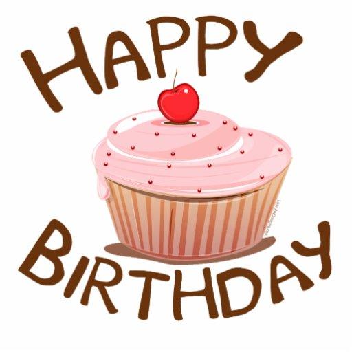 Cupcake Happy Birthday Photo Sculpture
