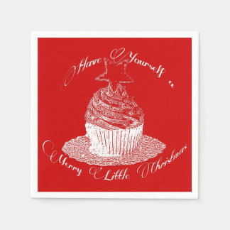 Cupcake/Have Yourself a Merry Little Christmas Disposable Serviette