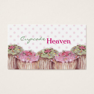 Cupcake Heaven Chic Business Cards