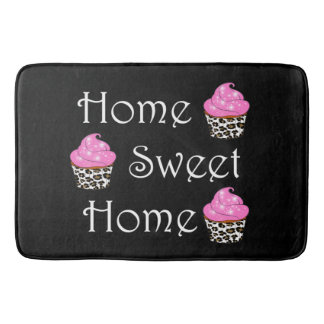 "Cupcake ""Home Sweet Home"" Bath Mats"
