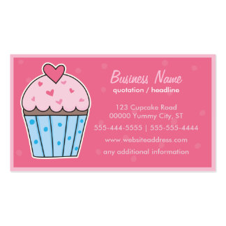CUPCAKE (hot pink) Pack Of Standard Business Cards