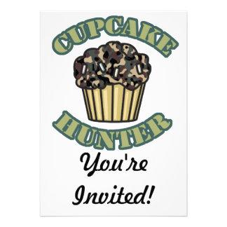 Cupcake Hunter Custom Invitations