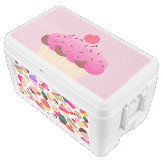 cupcake ice chest