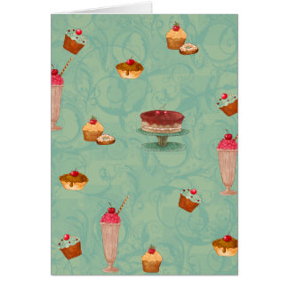 Cupcake & Ice Cream Patisserie Greeting Card