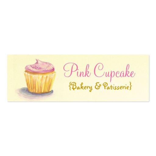 Cupcake Illustration Skinny Business Cards