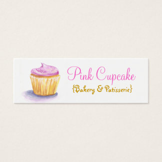 Cupcake Illustration Skinny Business Cards