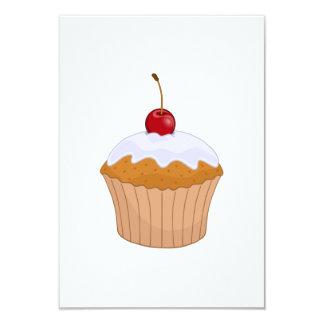 Cupcake 9 Cm X 13 Cm Invitation Card