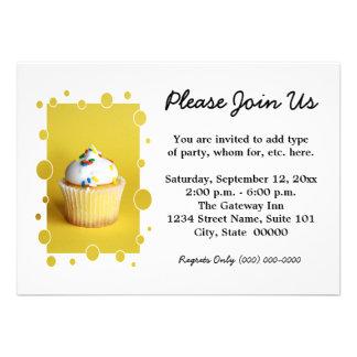 Cupcake Invitations