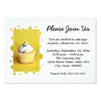 """Cupcake Invitations 4.5"""" X 6.25"""" Invitation Card"""