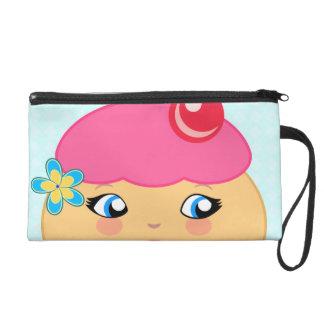 Cupcake Kawaii Pink Couture Wristlet Purse Bags Wristlet Purses