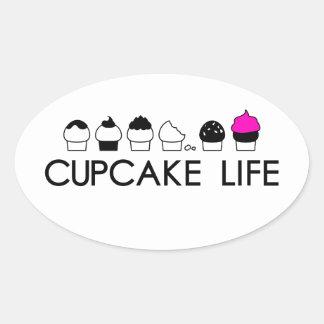 Cupcake Life Oval Sticker