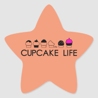 Cupcake Life Star Sticker