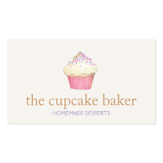 Cupcake Logo Bakery Chef Catering Pack Of Standard Business Cards