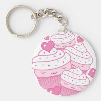 cupcake love keychain