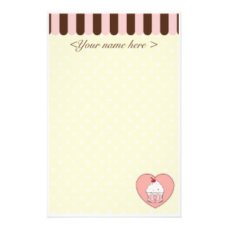 Cupcake Love Personalised Stationery