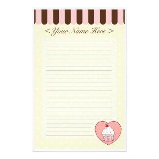Cupcake Love Stationery Paper