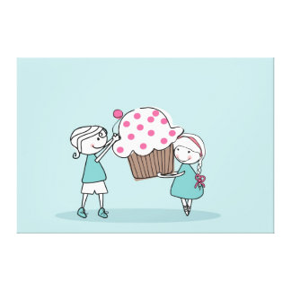 Cupcake Love Stretched Canvas Print