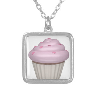 Cupcake of strawberry necklace