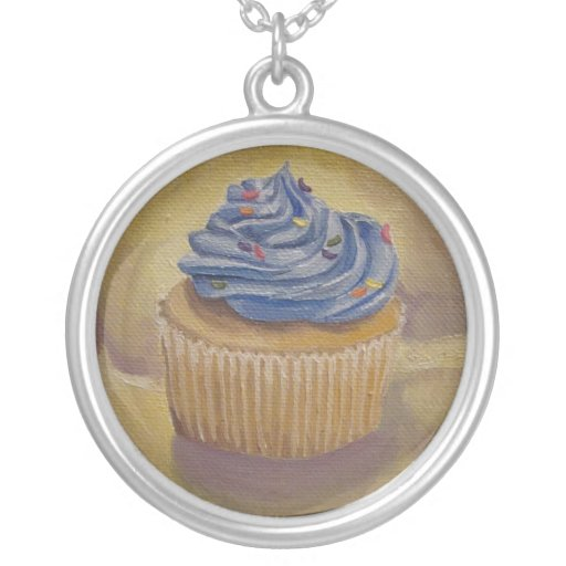 Cupcake Painting Necklace