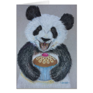 Cupcake Panda Birthday Card