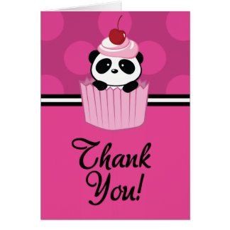 Cupcake Panda Thank You Card