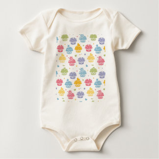 Cupcake Party Colorful Pattern Baby Bodysuit