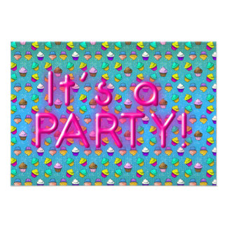 Cupcake Party invatations Announcement