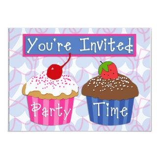 """Cupcake Party Invitation 4.5"""" X 6.25"""" Invitation Card"""