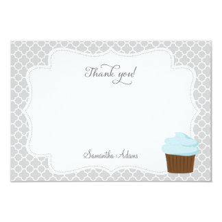 "Cupcake Party Thank You Card 3.5"" X 5"" Invitation Card"