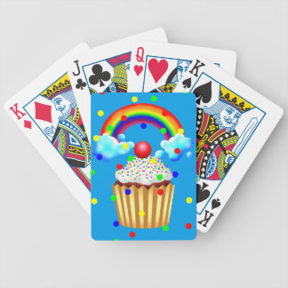 Cupcake Party with Rainbow & Sprinkles Bicycle Playing Cards